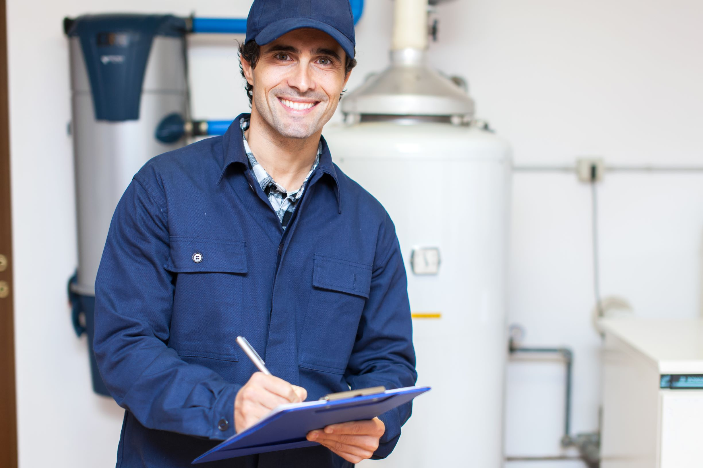 friendly water heater technician and repairs