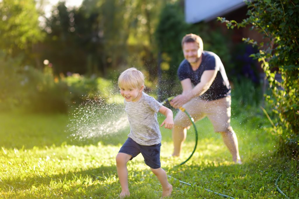 using-outdoor-faucet-to-play